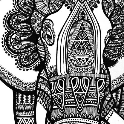 elephant art print  elephant print art elephant art animal coloring pages