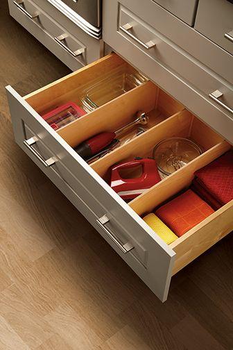 deep drawer divider store small appliances linens cooking rh pinterest com