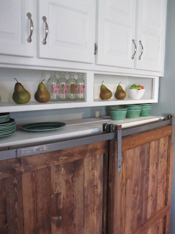 Reclaimed Kitchen Doors Barn Door Distressed Wood Cabinet Custom Kitchen Furniture