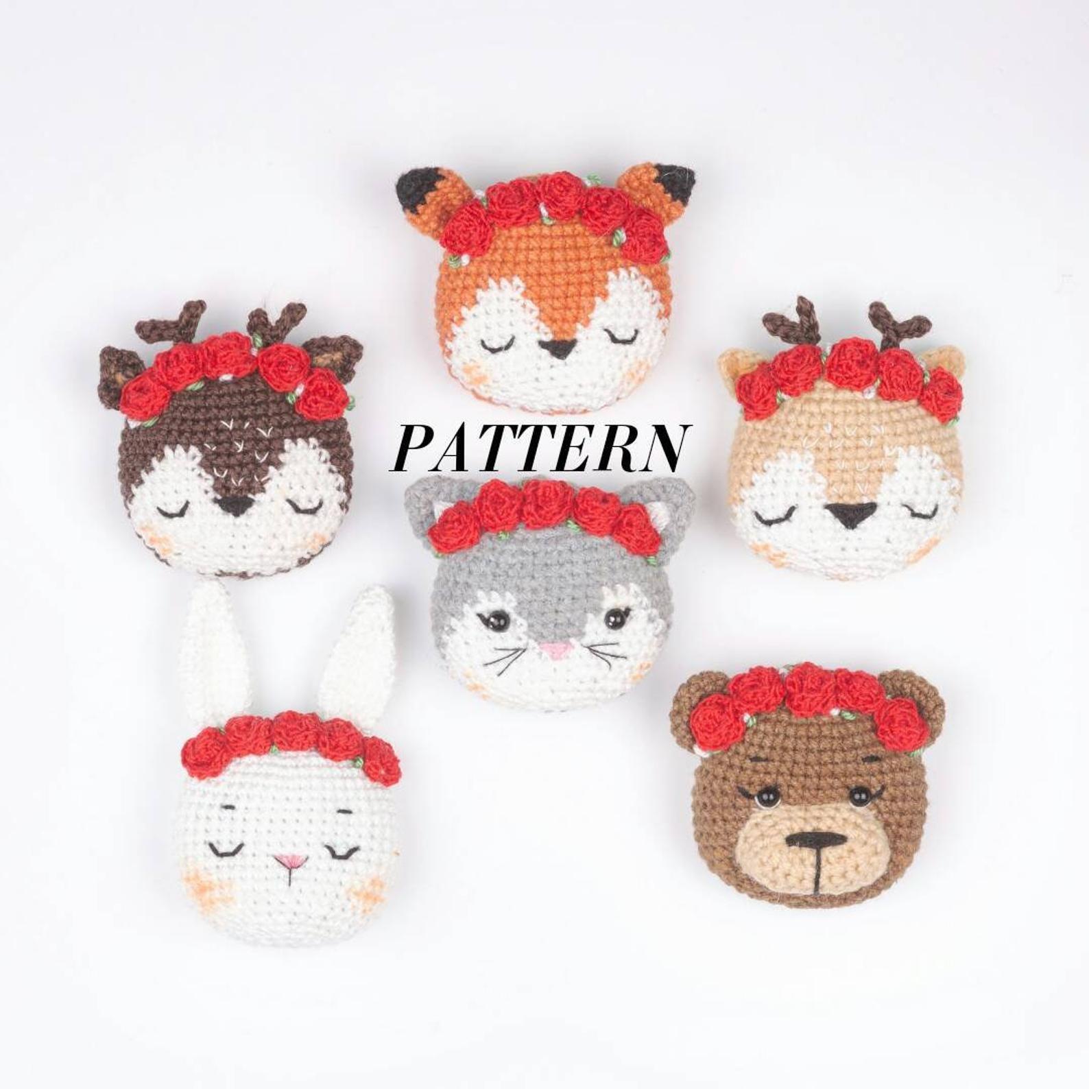 crochet pattern in english brooch cat pdf stuffed toy