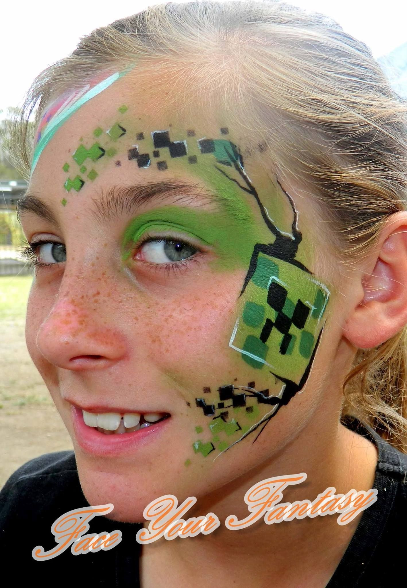 Ch Minecraft-creeper Hf 15 Face Painting Ideas Creepers And