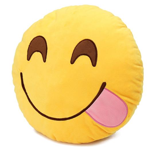 Emoji Tongue Out Pillow Emoji Pillows Emoji Cushions Emoji Pillows Plush