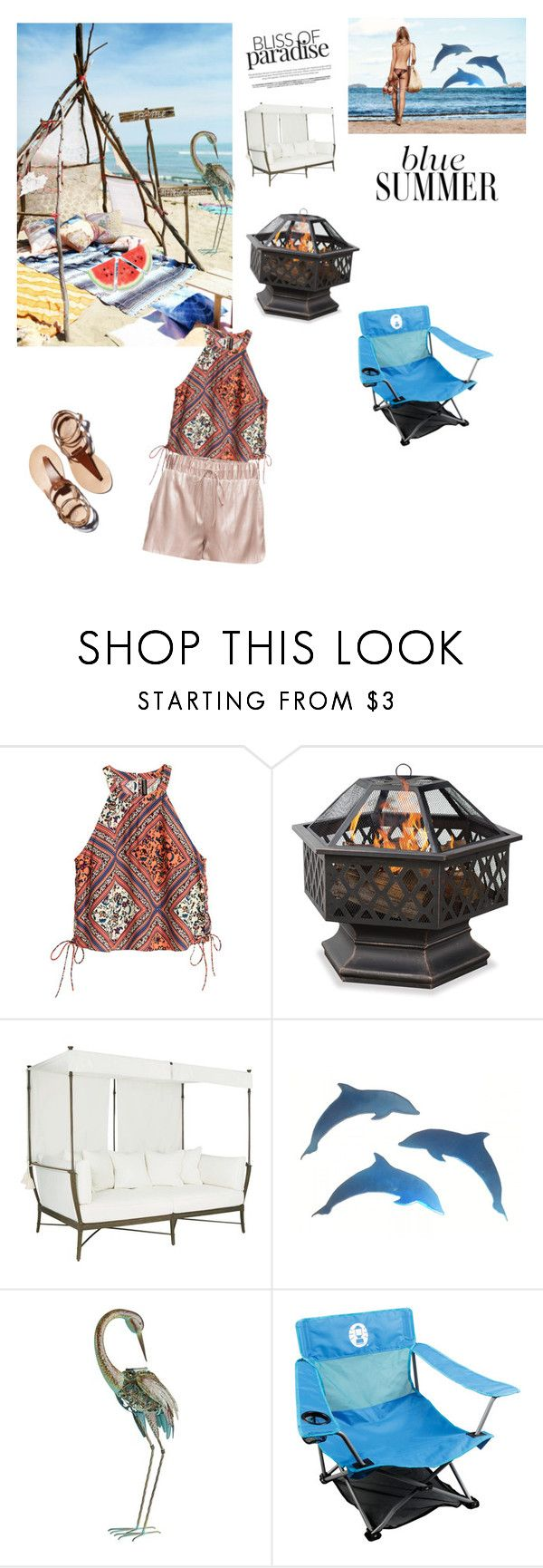 """Glamping"" by rowdyscouty-1 ❤ liked on Polyvore featuring interior, interiors, interior design, home, home decor, interior decorating, Pier 1 Imports, Coleman and glamping"