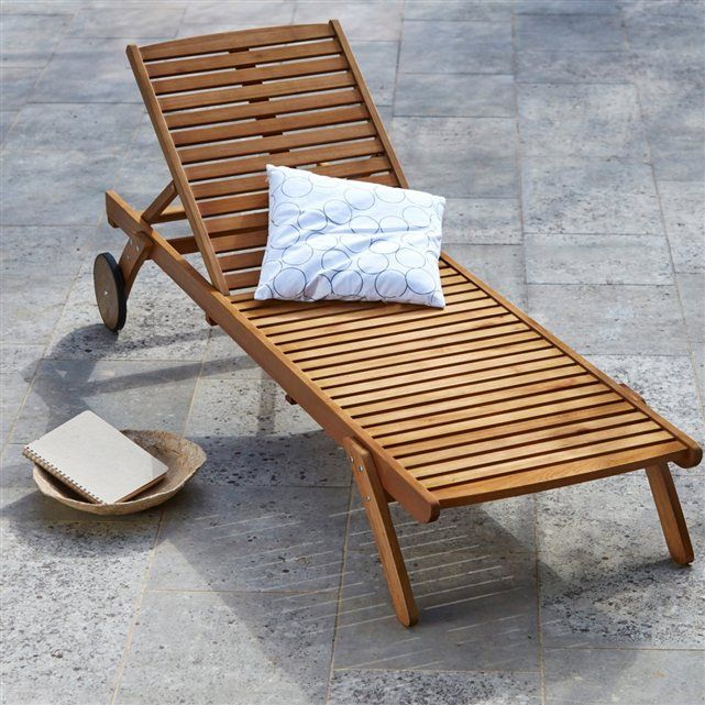 bain de soleil chaise longue eucalyptus la redoute interieurs terrasse pinterest la. Black Bedroom Furniture Sets. Home Design Ideas