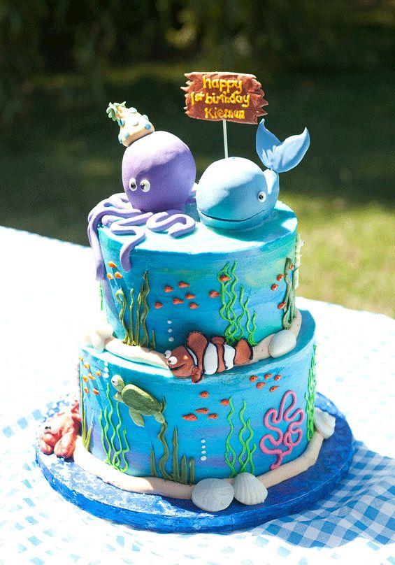 Terrific Under The Sea Party Kiernan Is 1 With Images Ocean Birthday Personalised Birthday Cards Sponlily Jamesorg