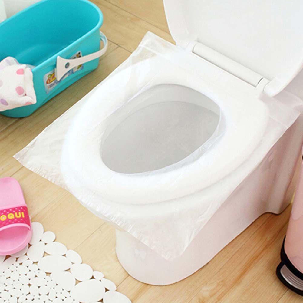10 Pcs Lot 1 Bag Travel Disposable Toilet Seat Cover Mat 100 Waterproof Toilet Paper Pad Bathroom Disp Toilet Seat Cover Toilet Seat Bathroom Accessories Sets