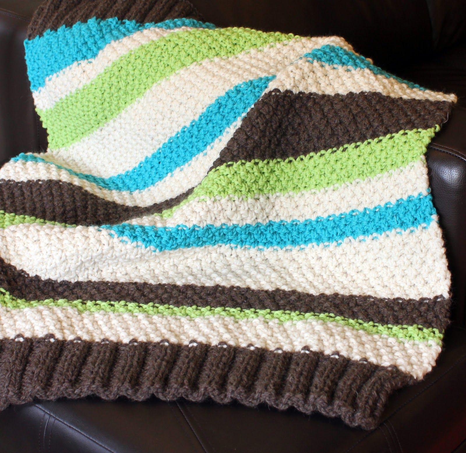 Easy Baby Blanket Knitting Pattern for Beginners - with Free ...