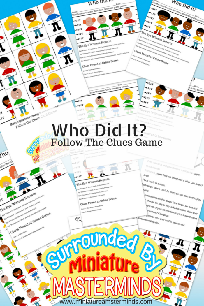 Who Did It? #Free #Printable Guessing Game And Crime Solving ...