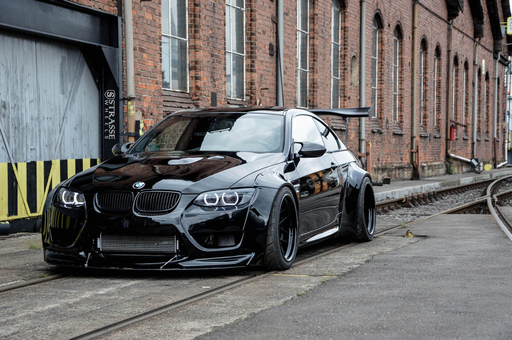 Mean All Black Bmw 3 Series Customized In Batman Style With
