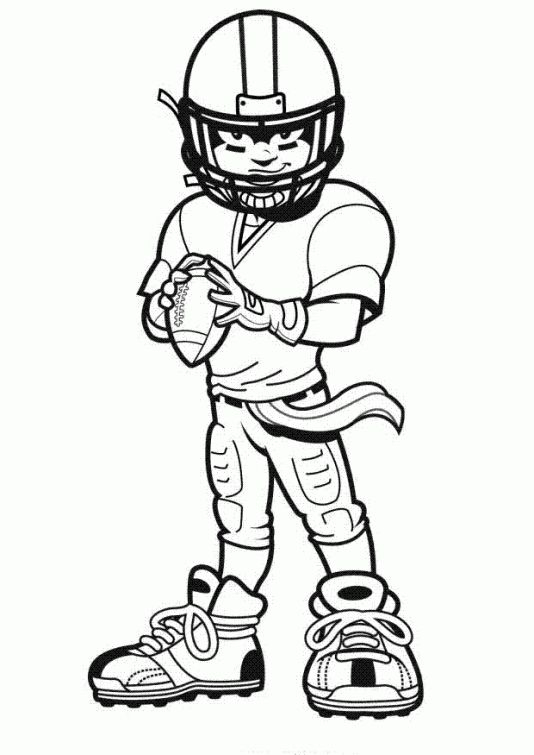 Football free coloring pages for kids | Sports Coloring Pages ...