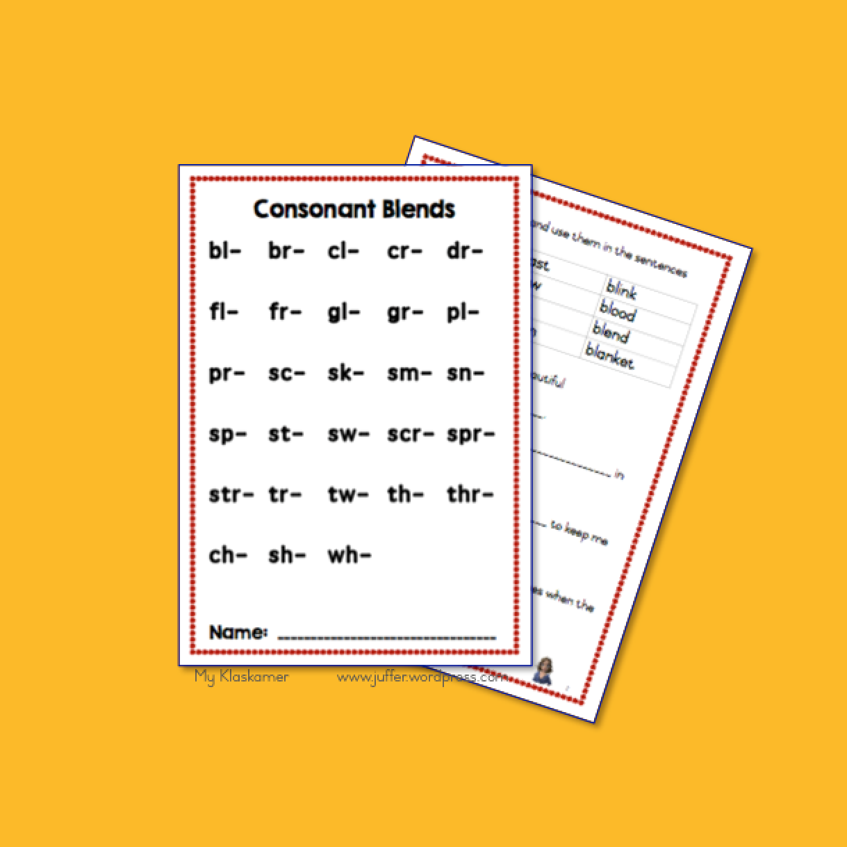 Consonant Blends Worksheets Bl Br Cl Cr Dr Fl Fr