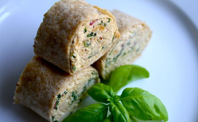 Smith's Vegan Kitchen: Tempeh and Chickpea Pinwheels with Agave Mustard Dressing