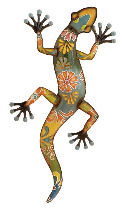 Painted Lizard Wall Decor Lizard Wall Sculptures Metal Art