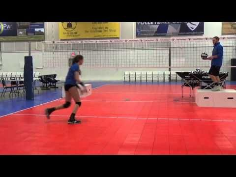 8 Middle Attacking Serve Receive Footwork Left Front Youtube Entrenamiento