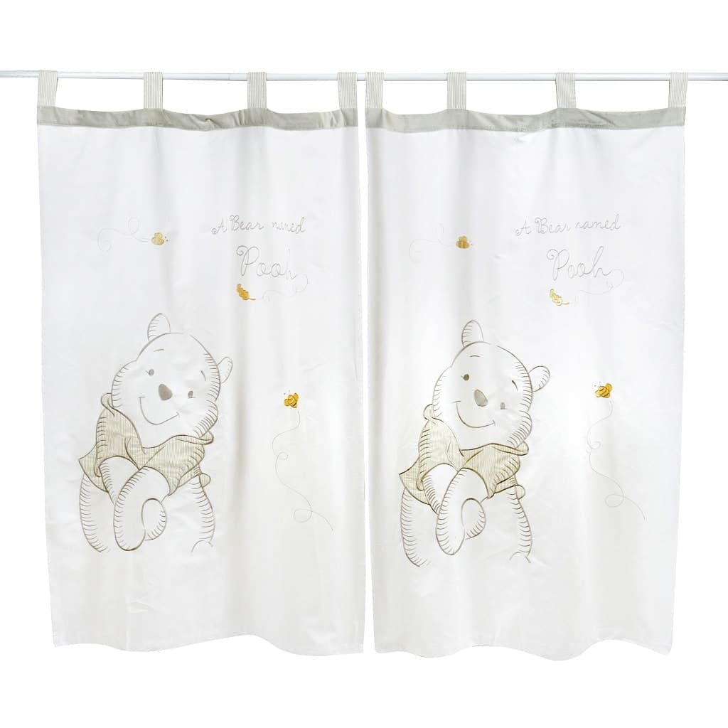 Gray Winnie The Pooh 2 Curtains Winnie The Pooh Curtains Winnie The Pooh Nursery Nursery Curtains