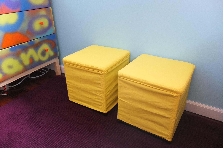 Bosnas Ottoman With Storage Ransta Yellow Ikea Storage Footstool Storage Ottoman Kid Room Decor