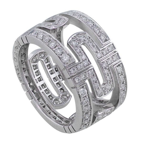 bulgari parentesi openwork white gold diamond band