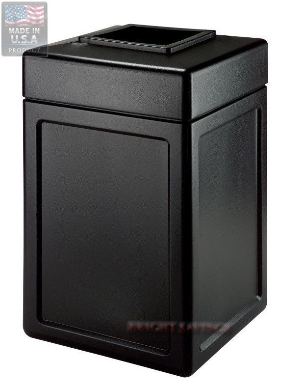 Outdoor Trash Can With Wheels Commercial Outdoor Trash Can Black 38 Gallon Garbage Can Easy Access