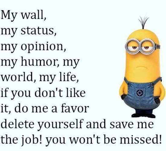 Do me a favor and delete yourself minion minions minion quotes do me a favor and delete yourself minion minions minion quotes funny minion quotes minion quotes solutioingenieria Images