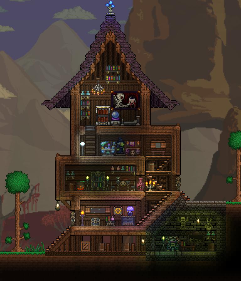 Minecraft House Designs Ideas Latest Version Apk: Terraria Base Inspiration