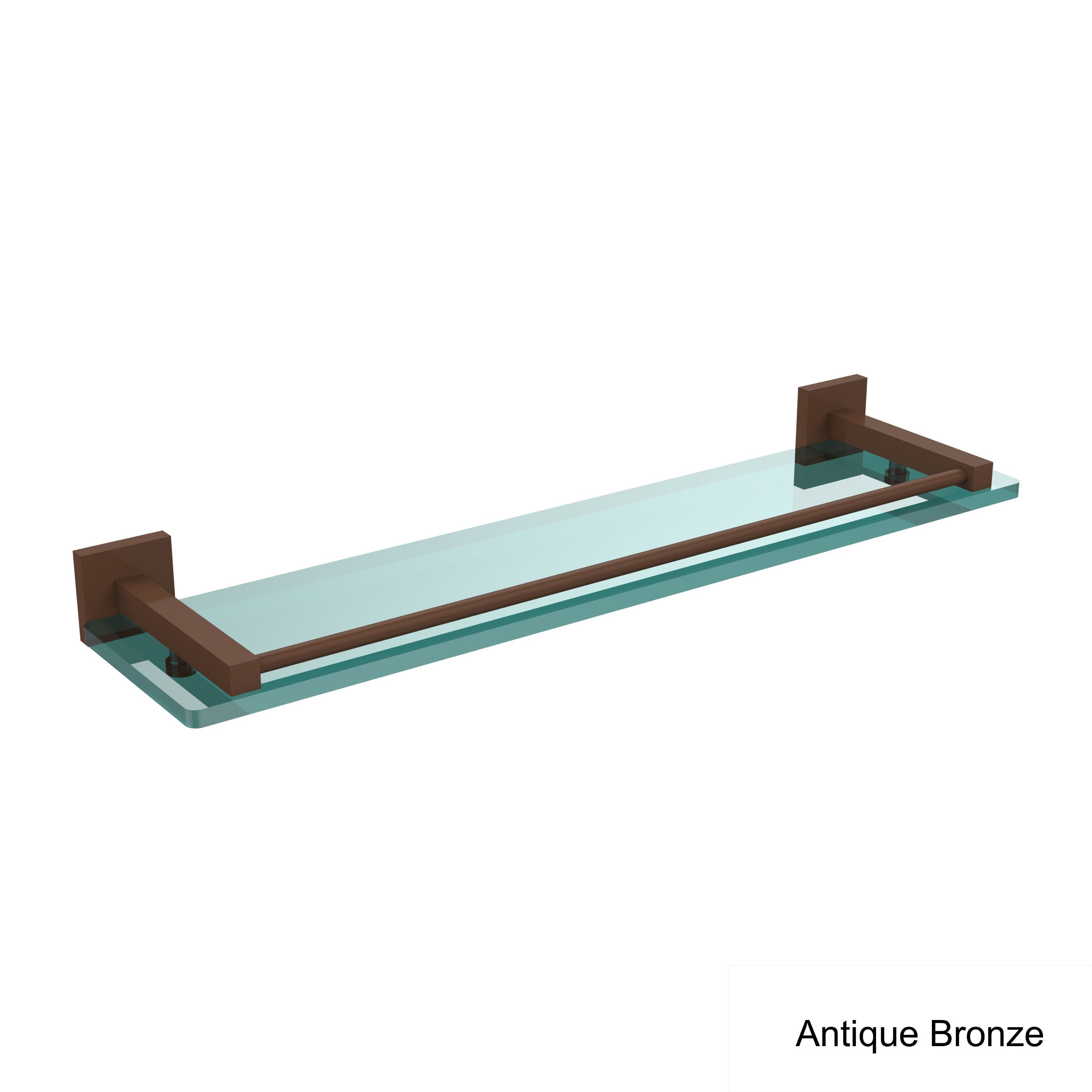 Allied Brass Montero Collection 22-inch Glass Shelf with Gallery ...
