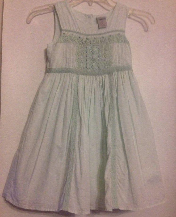 Maggie & Zoe Size 6X Sheer Mint Green Dress Fully Lined Cotton Free Shipping #MaggieZoe #Sundress #BridesmaidDressyEverydayHolidayPartyWedding #Dress #GirlsFashion