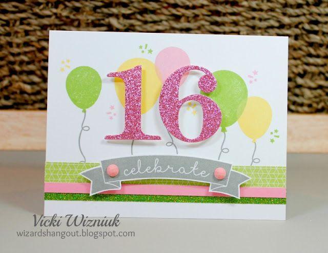 16th Birthday Card With Ctmh Kaleidoscope Cardmaking Workshop Kit