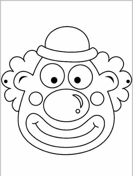 bildergebnis für ausmalbilder karnevl masken  clown
