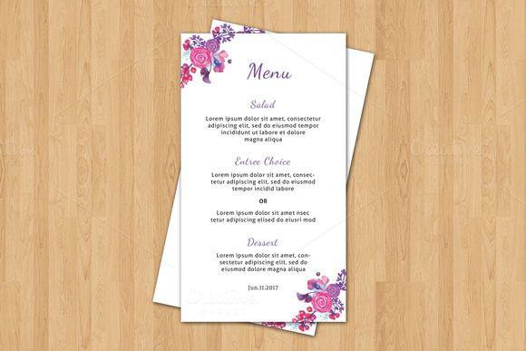 Wedding Menu Card Template Menu card template, Wedding menu and - microsoft word menu templates