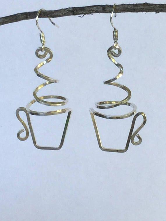 Coffee Or Tea Cup Earrings Sterling Copper Diy Jewelry Diy