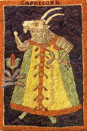 Capricorn 25 X 38 Off The Hook Wool Rugs Sharon Smith
