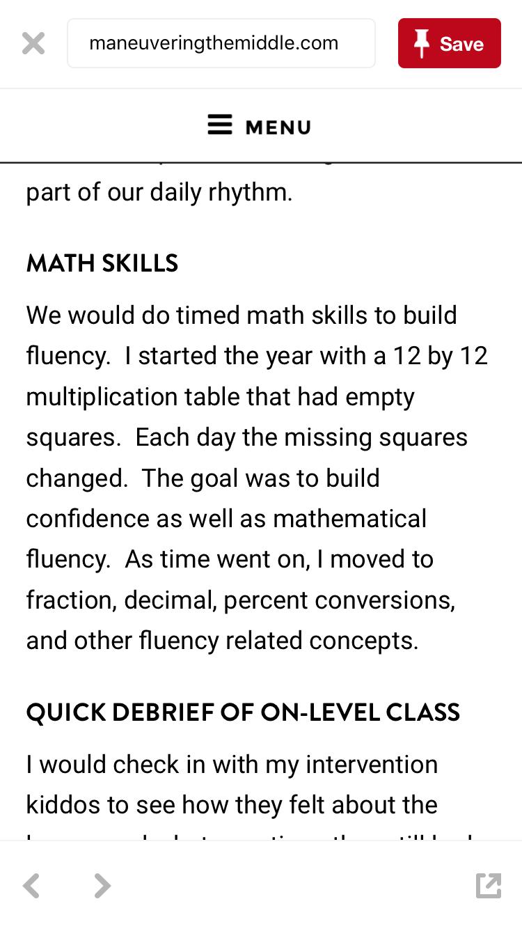 Speed drills (include fractions, decimals & percents) | Math ...