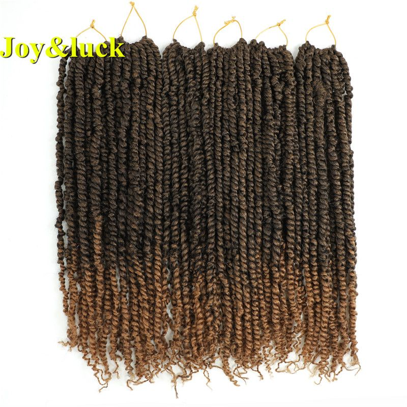 Joy&luck 18inch Long Synthetic Passion Twist Braids Hair Extension for Women Crochet Braiding Hair    !!!Attention!!! valid discount 60% buy now for: 4.82$ #passiontwistshairstylelong