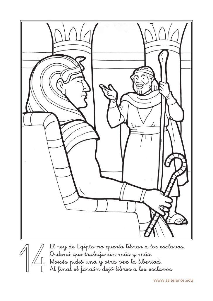 Colorear Historia Salvacion | DC | Pinterest | Colorear, Egipto y ...