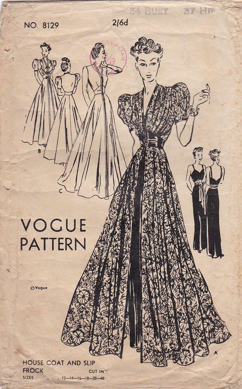 Vogue 8129 A Vintage Clothes Patterns Vintage Dress Patterns Vintage Sewing Patterns