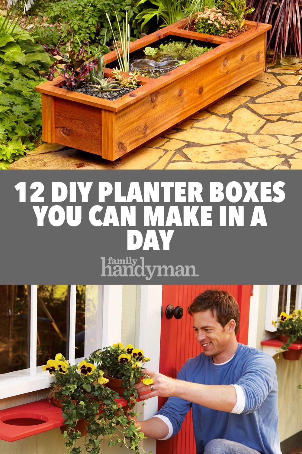 12 DIY Planter Boxes You Can Make in a Day Planter boxes