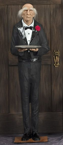 Dobson the Butler animated life size prop made in the USA Halloween - halloween statues