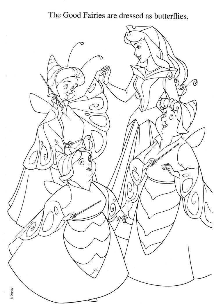 aurora   malebog   Pinterest   Colorear, Princesas y Dibujos para ...