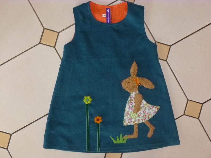 Kleider - Kinderkleid *Häschen* - ein Designerstück von carinspuppentraeume bei DaWanda