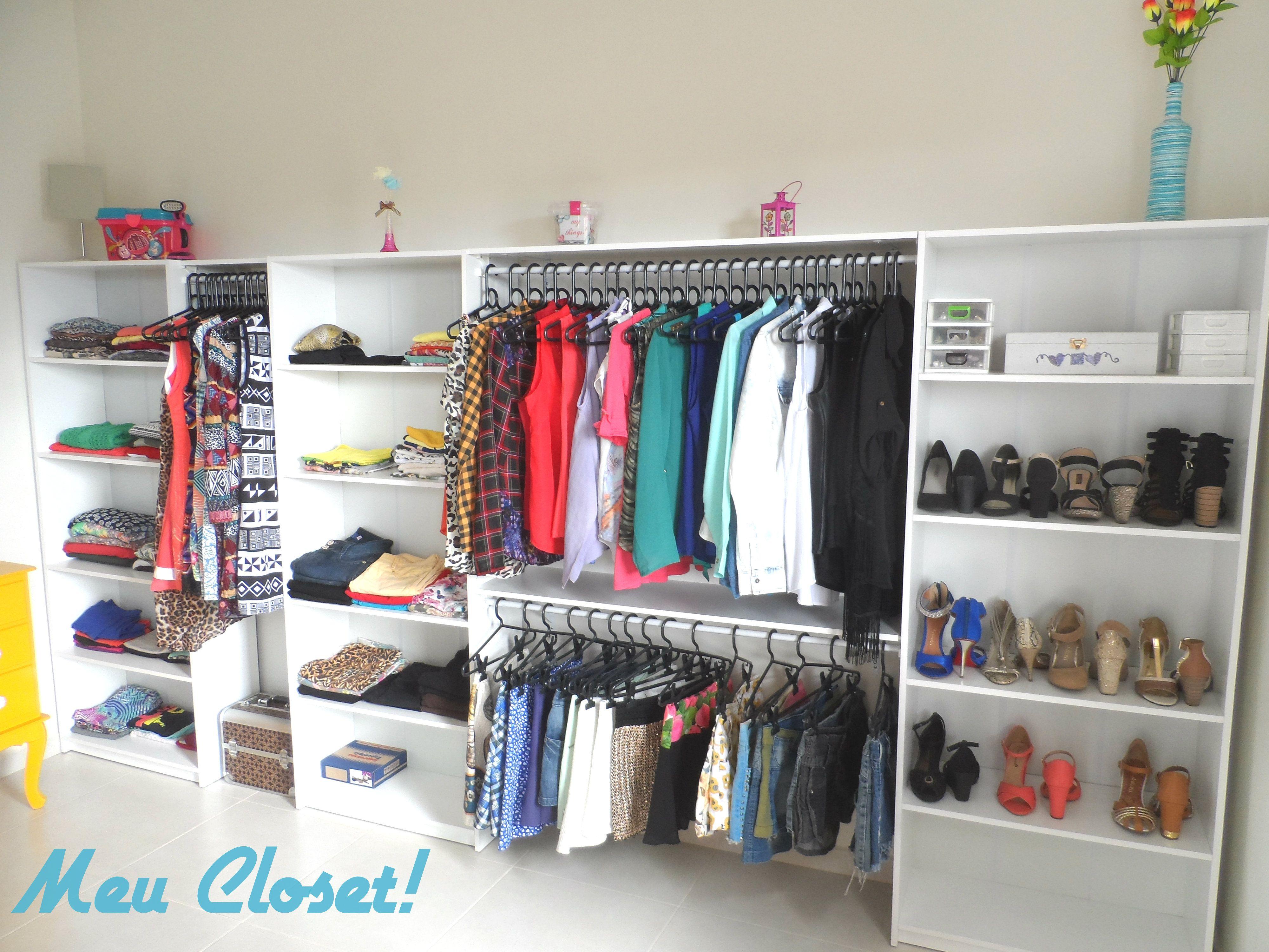 Meu closet simples e barato diy pinterest closet - Adsl para casa barato ...