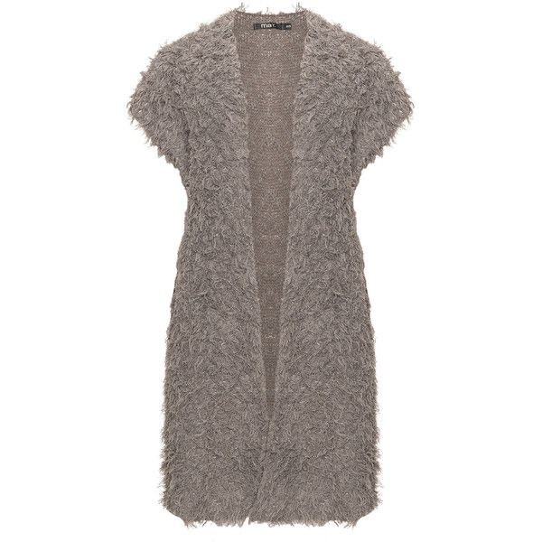 Mat Taupe-Grey Plus Size Fluffy open long line cardigan ($81 ...