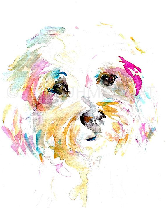 Dog Watercolor Print Mrs Sophie By Jess Buhman Multiple