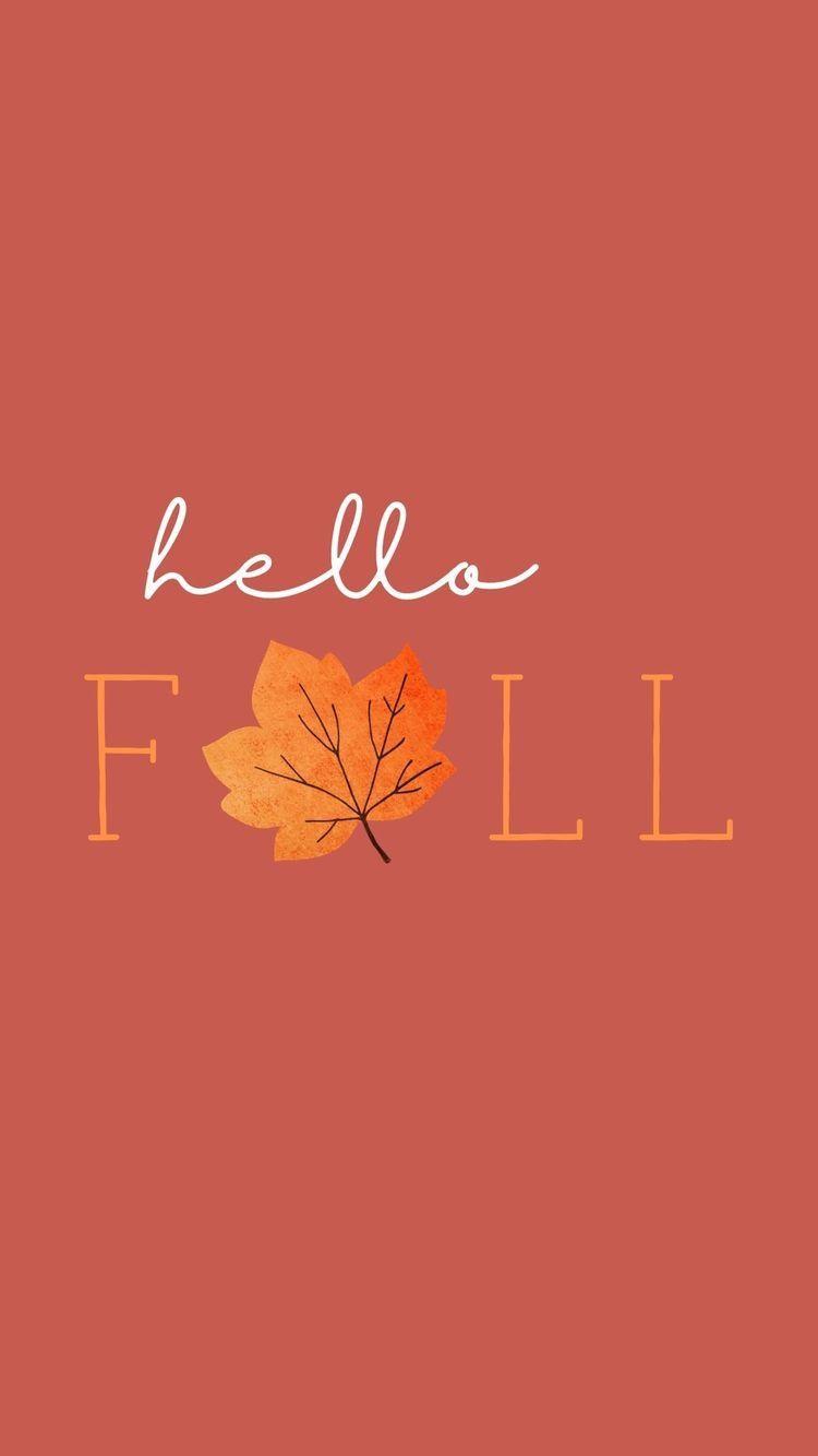 Wallpaper Fall Backgrounds Iphone Iphone Wallpaper Fall Hello Autumn