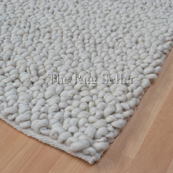 Pebble Hoop Wool Rugs In Ivory