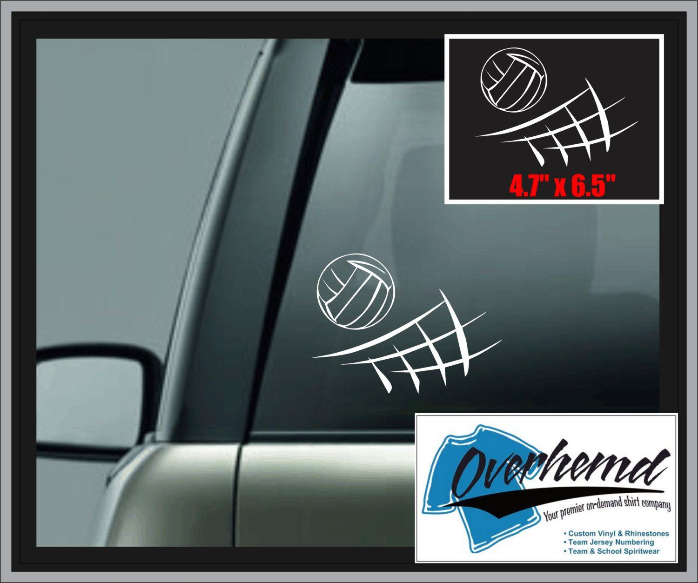 Volleyball Decal Laptop Window Vinyl Car Sticker Vinyl Car Stickers Window Vinyl Car Decals Vinyl [ 1253 x 1500 Pixel ]