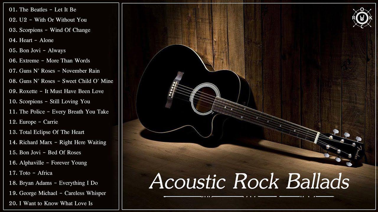 Acoustic Rock Ballads Best Rock Ballads Of All Time Bon Jovi Always Guitar Songs Best Rock