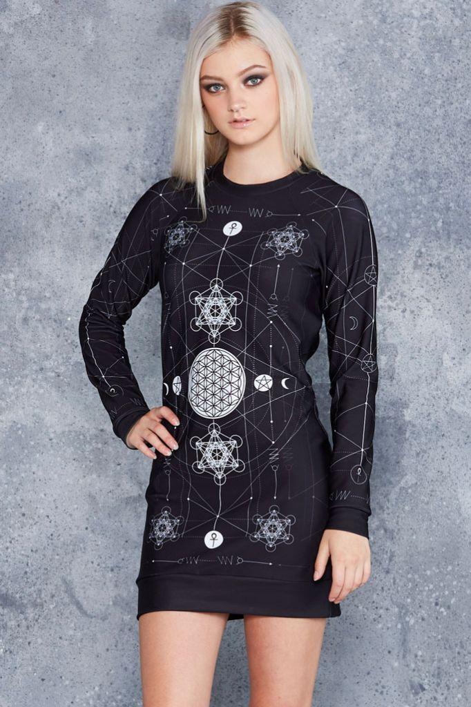 aea69383985 Sacred Geometry Sweater Dress - Limited