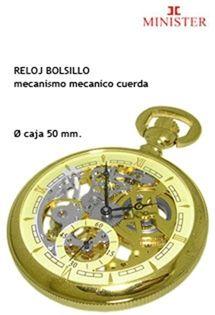 8e6e31e6f Reloj de bolsillo Minister para caballero y señora con mecanismo mecánico  de cuerda y caja de