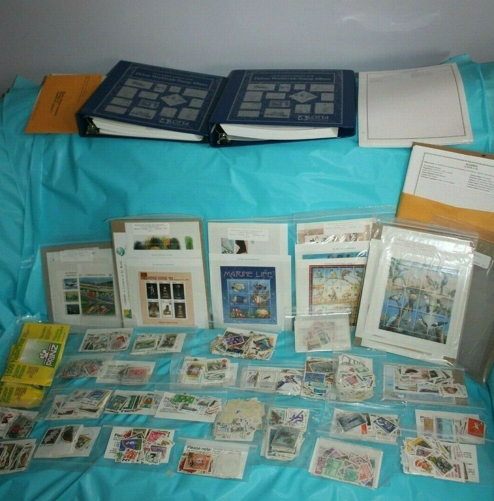 Mega 2000+ Lotta Stamps A Month Club With 2 Binders Deluxe