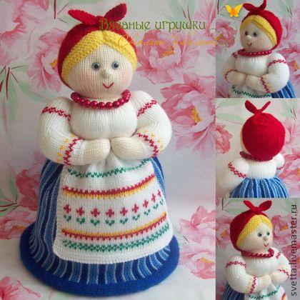 """""""Дуняша"""" вязаная кукла-грелка для чайника - кукла,грелка,грелка для чайника"""